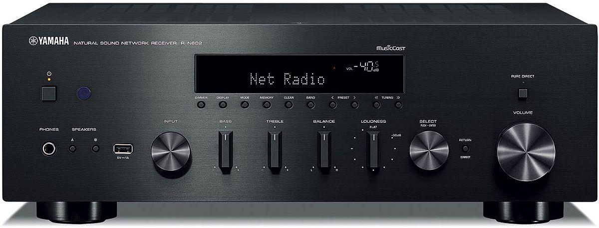 Yamaha Black 2 Channel Network Hi-Fi Receiver