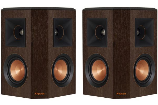 Large image of Klipsch Reference Premiere Walnut Surround Speakers (Pair) - 1065827