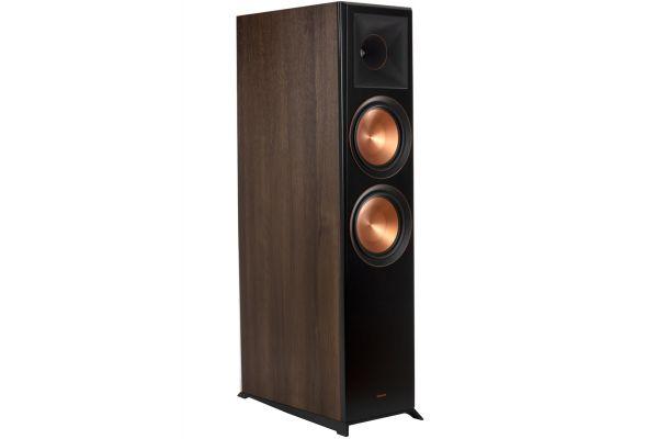 Large image of Klipsch Reference Premiere Walnut Dolby Atmos Floorstanding Speaker (Each) - 1065793