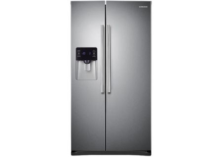 Samsung 25 Cu Ft Capacity Stainless Steel Side By Side Refrigerator - RS25H5121SR