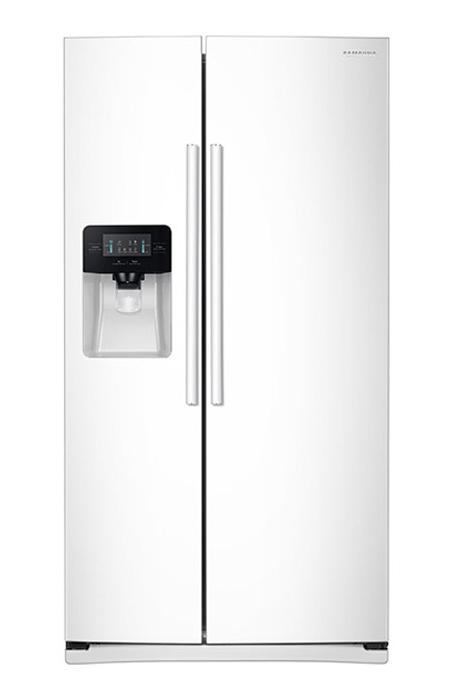 samsung white side by side refrigerator rs25j500dww aa. Black Bedroom Furniture Sets. Home Design Ideas