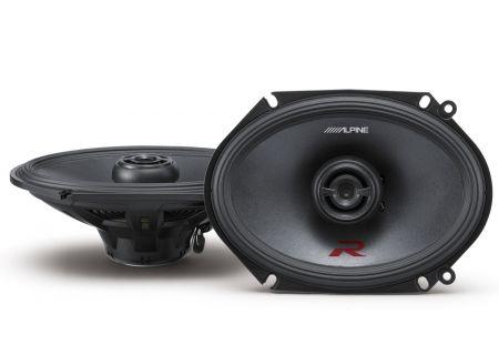 "Alpine R-Series 6x8"" Coaxial 2-Way Speakers - R-S68"