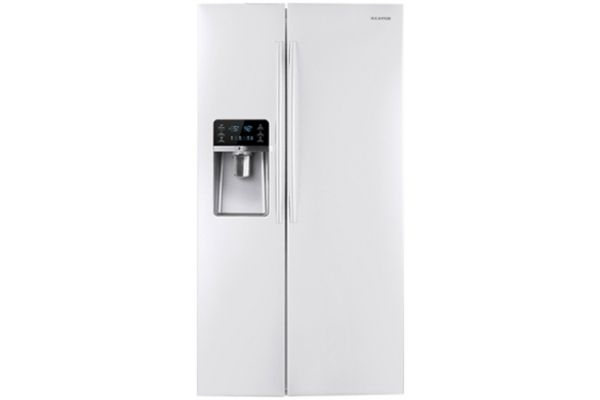 Samsung 30 Cu Ft White Side By Side Refrigerator - RSG307AAWP