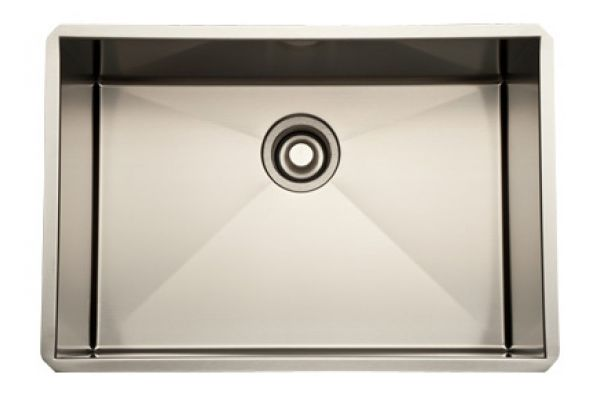 Large image of Rohl  Brushed Stainless Steel Single Bowl Kitchen Sink  - RSS2416SB