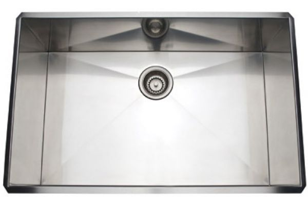 Large image of Rohl Brushed Stainless Steel Single Bowl Sink - RSS3018SB