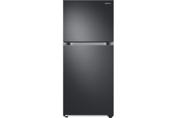 Large image of Samsung Black Stainless Steel Top Freezer Refrigerator - RT18M6215SG