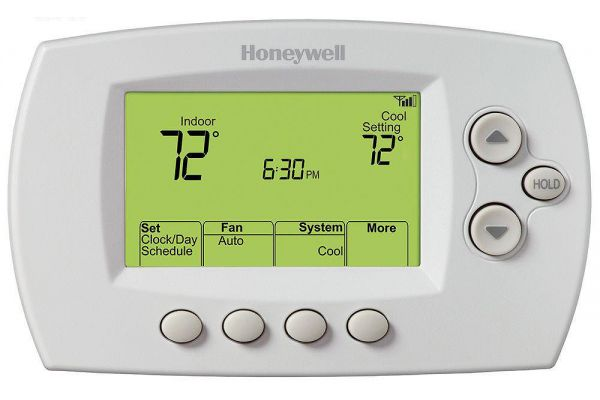 Large image of Honeywell White Programmable Thermostat - RTH6580WF