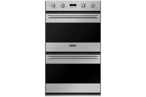 """Large image of Viking 30"""" Stainless Steel Built-In Double Electric Oven - RVDOE330SS"""