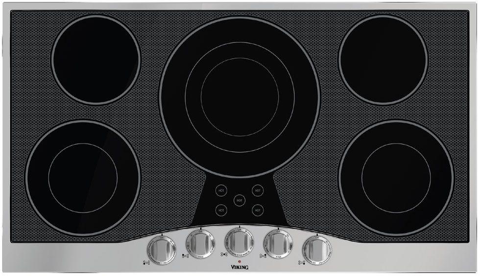 Viking 36 Electric Glass Cooktops Rvec3365bsb Abt