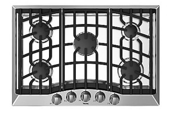 "Large image of Viking 30"" Stainless Steel Gas Cooktop  - RVGC33015BSS"