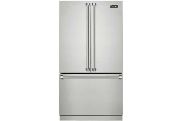 "Large image of Viking 3 Series 36"" Stainless Steel French-Door Bottom Freezer Refrigerator - RVRF3361SS"