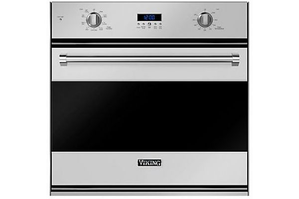 "Large image of Viking 30"" Stainless Steel Single Electric Wall Oven - RVSOE330SS"