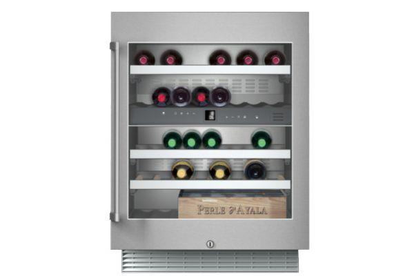 "Large image of Gaggenau 400 Series 24"" Stainless Frame Under-Counter Wine Storage Unit - RW404761"