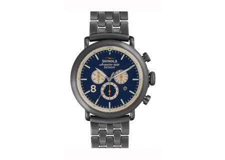 Shinola The Runwell Contrast Chrono 47MM Gunmetal Stainless Steel Mens Watch  - S0100075