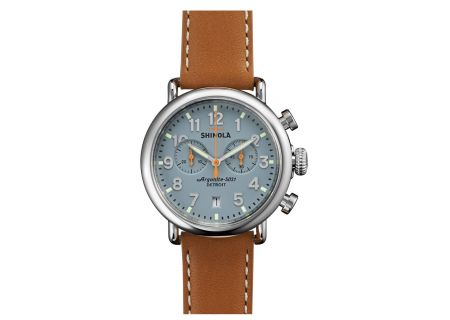 Shinola The Runwell Chrono 41mm Tan Leather Strap Unisex Watch - S0110000097