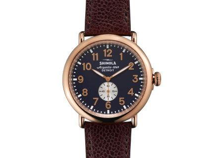 Shinola The Runwell 47mm Rose Gold Mens Watch - S0110000168