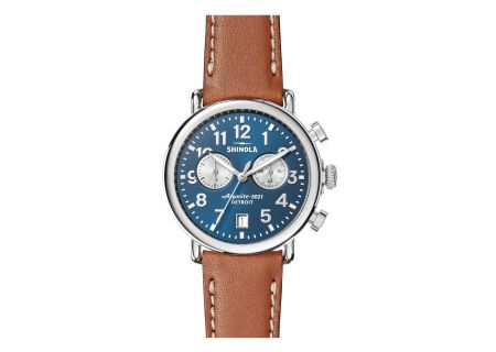 Shinola The Runwell Chrono 41mm Tan Leather Strap Mens Watch - S0120044131