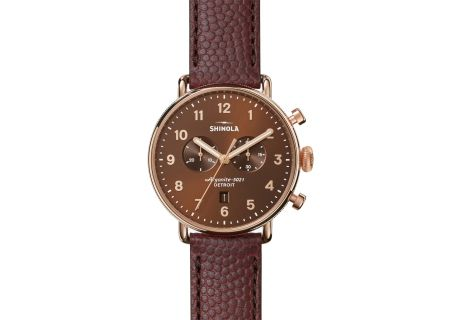 Shinola The Canfield Chrono 43mm Stainless Steel With PVD Rose Gold Mens Watch - S0120044135