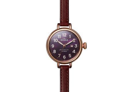 Shinola The Birdy 34mm Rose Gold Womens Watch - S0120077933