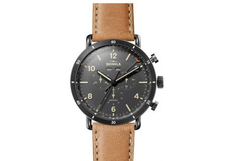 Shinola The Canfield Sport 45mm Gray Dial with Natural Leather Strap Mens Watch - S0120089891