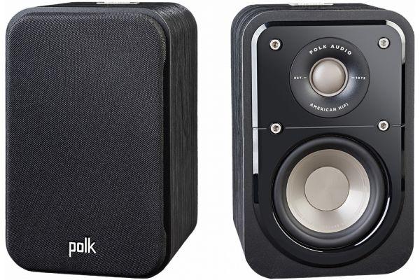 Large image of Polk Audio Signature S10 American HiFi Home Theater Black Compact Bookshelf Speakers (Pair) - S10BLK