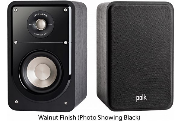Large image of Polk Audio Signature S15 American HiFi Home Theater Walnut Compact Bookshelf Speakers (Pair) - S15BRN
