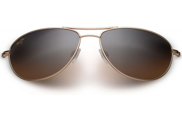 Large image of Maui Jim Baby Beach Aviator Gold Womens Sunglasses - HS245-16