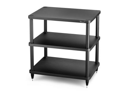 Solidsteel Black S3 Series 3 Shelf Audio Rack - S3-3BK