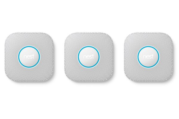 Large image of Google Nest Protect 3 Pack White Battery Smoke And Carbon Monoxide Alarms - S3006WBUS