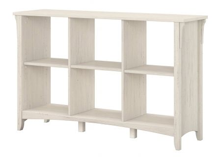 Bush Furniture Salinas 6-Cube Organizer In Antique White - SAB148AW-03