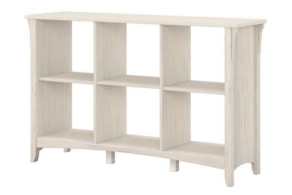 Large image of Bush Furniture Salinas 6-Cube Organizer In Antique White - SAB148AW-03
