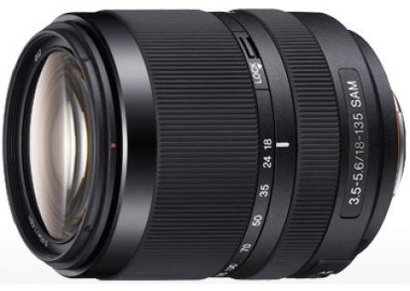 Sony 18-135mm f/3.5-5.6 Black Zoom Camera Lens - SAL18135