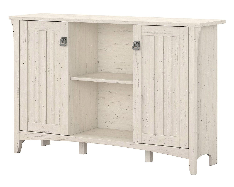 Bush Furniture Salinas Storage Cabinet In Antique White Sas147aw 03