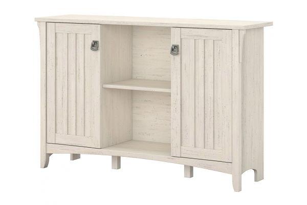 Large image of Bush Furniture Salinas Storage Cabinet In Antique White - SAS147AW-03