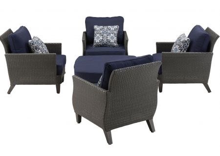 Hanover - SAV-5PC-NVY - Patio Seating Sets