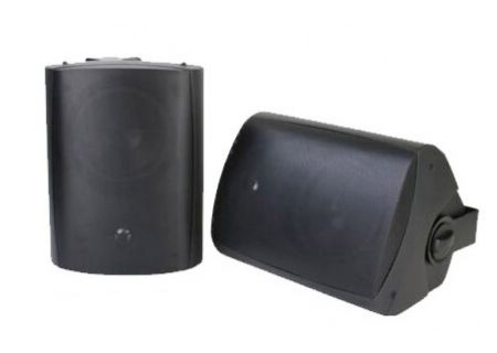 """SunBriteTV 6.5"""" Black All-Weather Surface Mount Outdoor Speakers - SB-AW-6-BLK"""