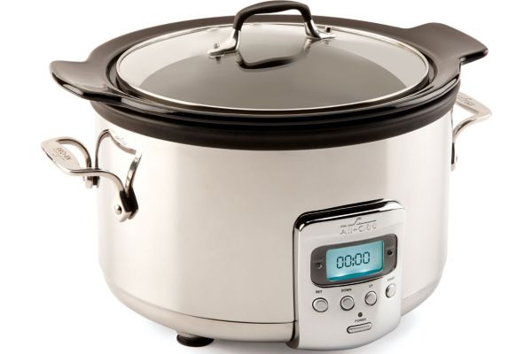 Large image of All-Clad Electrics Collection 4 Quart Stainless Steel Slow Cooker - SD710851