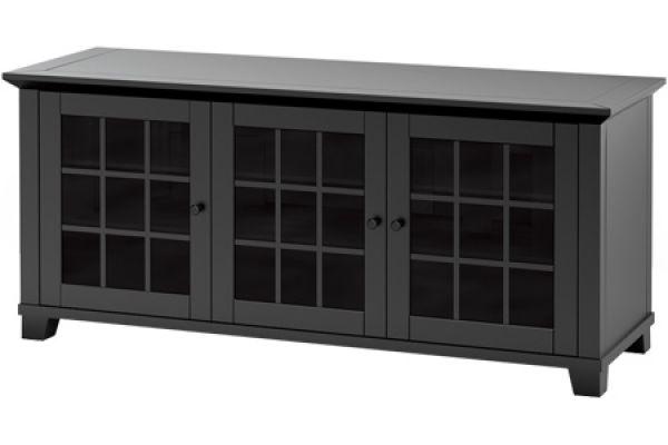 Large image of Salamander Designs Matte Black TV Stand - SDAV16626B