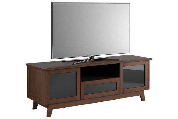 Large image of Salamander Designs Medium Walnut TV Stand - SDAV5/7225/MW