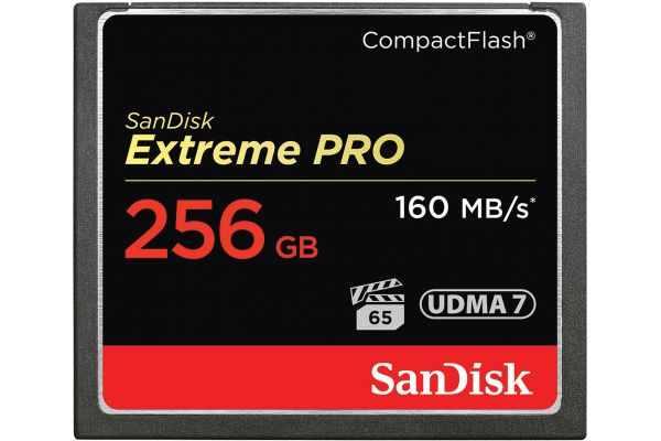 Large image of SanDisk Extreme PRO 256GB CompactFlash Memory Card - SDCFXPS-256G-A46