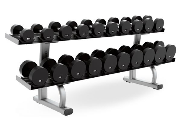 Large image of Life Fitness Two Tier Dumbbell Rack  - SDR2