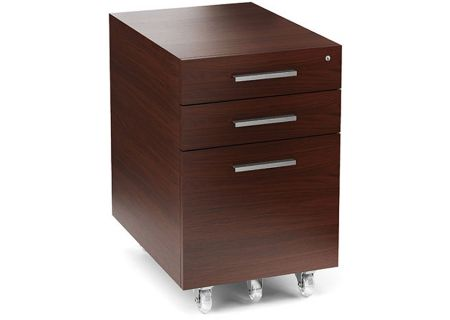 BDI Sequel Chocolate Stained Walnut Low Mobile File Pedestal - SEQUEL6007-2CWL