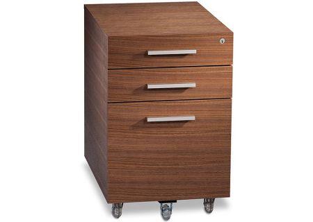BDI Sequel Natural Walnut Low Mobile File Pedestal - SEQUEL6007-2WL