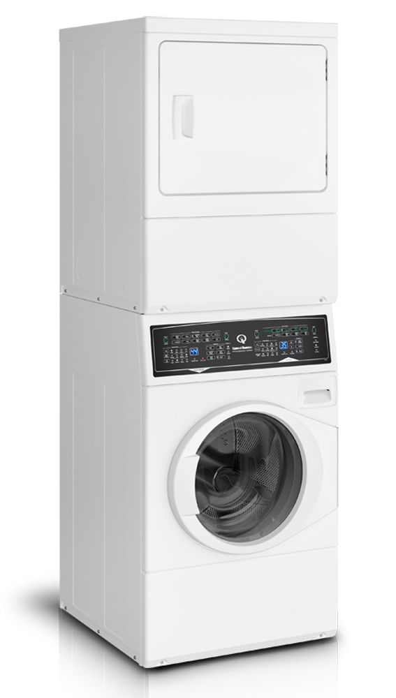 Speed Queen White Stacked White Washer And Electric Dryer