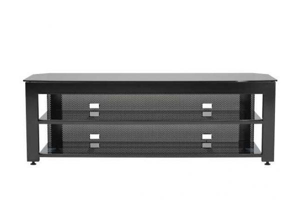 Large image of Sanus 3-Shelf Widescreen Lowboy Black TV Stand - SFV265-B1