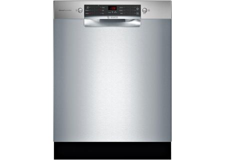 """Bosch ADA 800 Series 24"""" Stainless Steel Built-In Dishwasher - SGE68X55UC"""