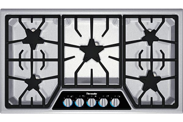 Large image of Thermador Masterpiece Stainless Gas Cooktop - SGSX365FSS
