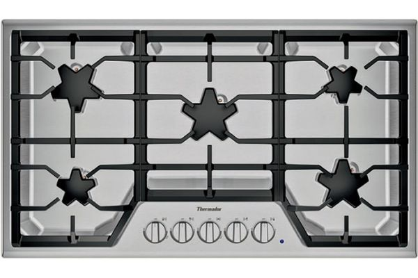 """Large image of Thermador 36"""" Masterpiece Series Stainless Steel Gas Cooktop - SGSX365TS"""