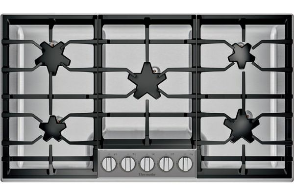 "Thermador 36"" Masterpiece Series Stainless Steel Gas Cooktop - SGSXP365TS"