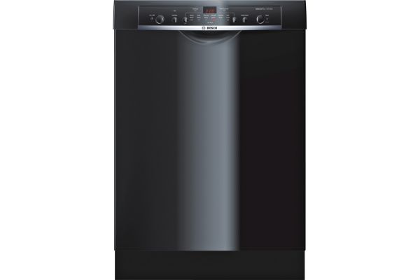 """Large image of Bosch 24"""" 100 Series Black Built-In Dishwasher - SHE3AR76UC"""